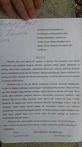 Astarada məmur prezidentə qarşı çıxır: