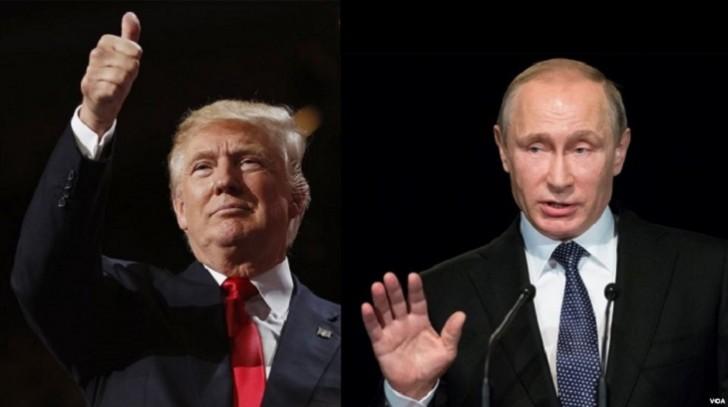 Trampla Putinlə görüşdü