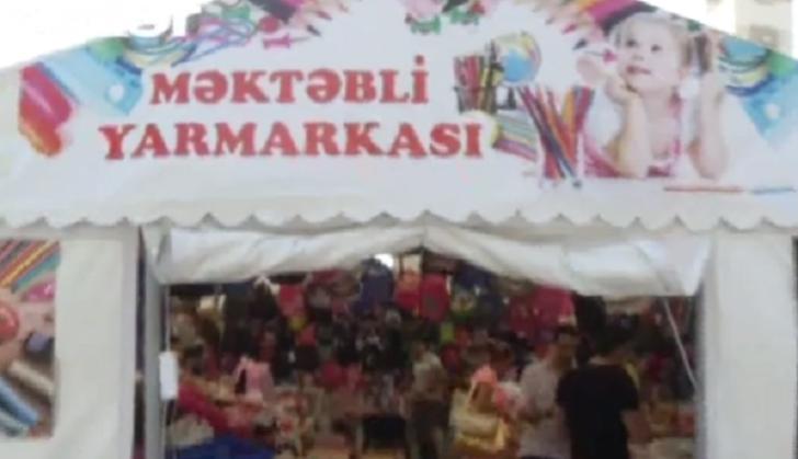 Məktəbli ləvazimatlarının satıldığı yarmarkalarla mağazalar arasında qiymət fərqi-