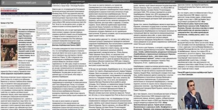 """""""Kyiv Post"""" Azərbaycandan yazdı, cavabını da elə Ukraynada aldı"""