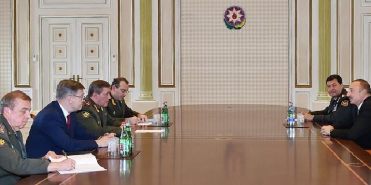 İlham Əliyev general Valeri Gerasimovu qəbul etdi