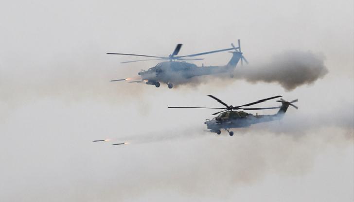 Rusiyada təlimlər zamanı helikopter insanlara raket atdı-