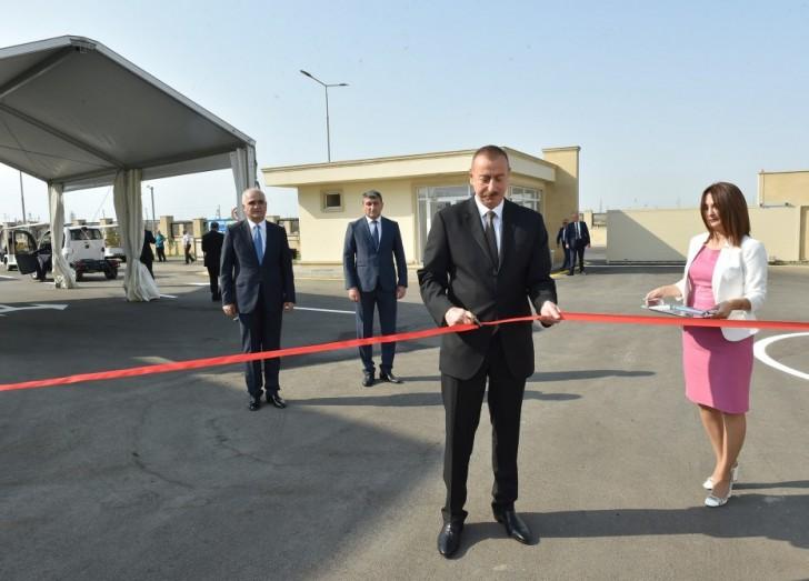 Prezident Balaxanı Sənaye Parkının açılışında-