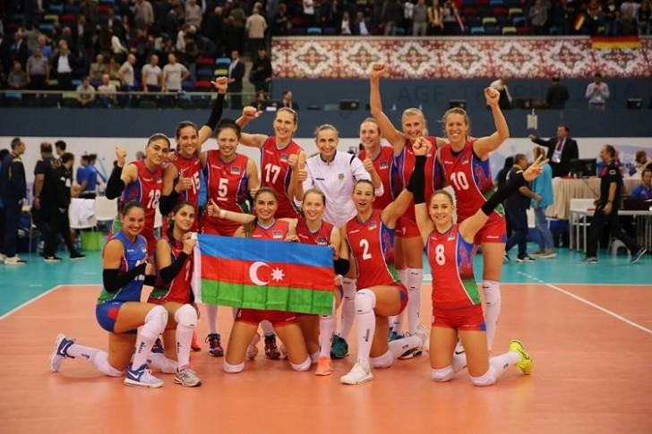 Qadin voleybolçularımız Avropa çempionatının yarımfinalında