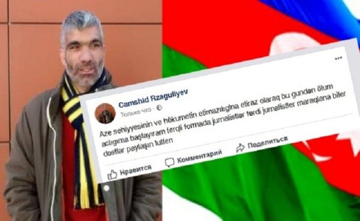 Qarabağ döyüşçüsü ölüm aclığına başlayır-