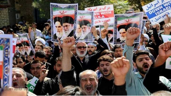 İranda Trampa qarşı etiraz aksiyası keçirilib