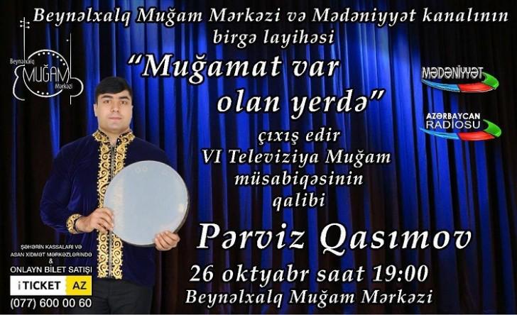 Gənc xanəndə Pərviz Qasımov solo konsert verəcək