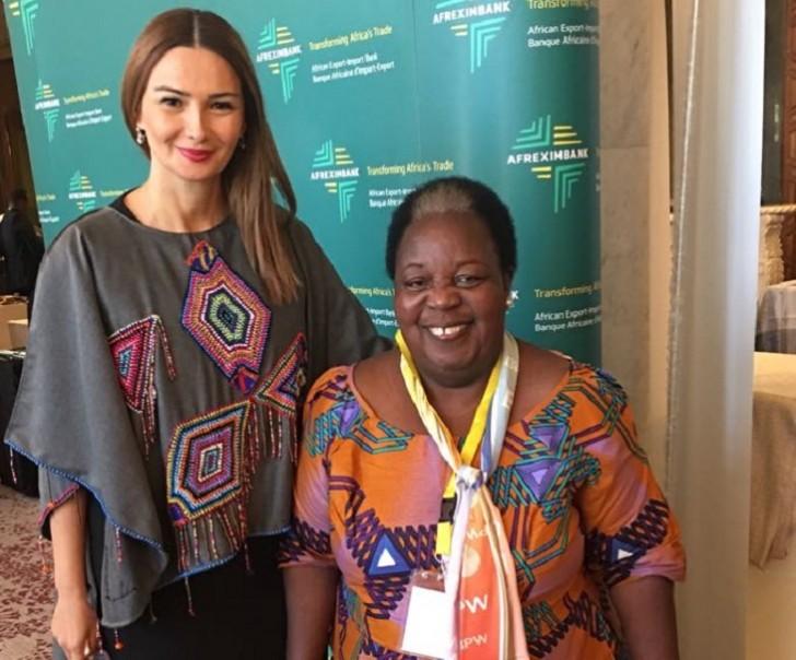 Qənirə Paşayeva Pan-Afrika Parlamentinin birinci prezidenti ilə görüşüb