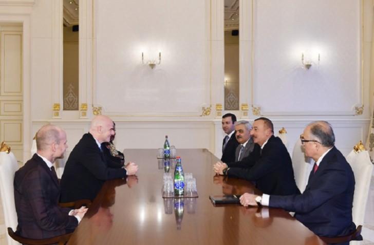 İlham Əliyev FIFA prezidentini qəbul edib