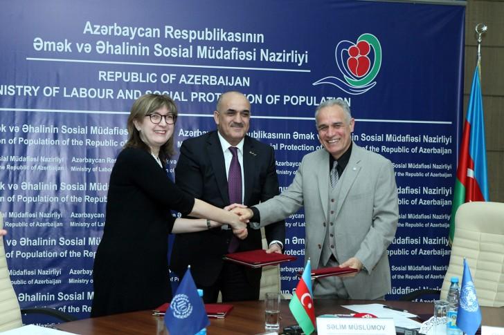 ƏƏSMN, BMT-nin İnkişaf Proqramı və Beynəlxalq Əmək Təşkilatı arasında Niyyət Məktubu imzalanıb
