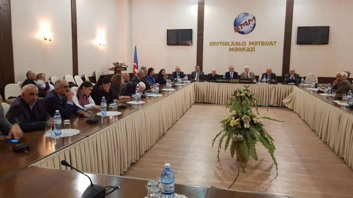 Veteran jurnalist Məzahir Süleymanzadənin 65 illik yubileyinə həsr olunmuş toplantı keçirilib