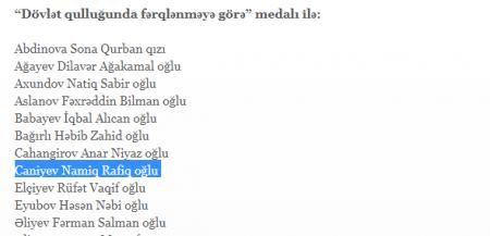 Aydın Əliyev Lənkəranskinin həbs olunan qardaşını təltif etdirib-
