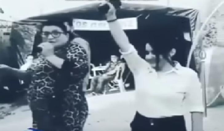 Azərbaycanlı qız toyda tapançanı çəkib atəş açdı-