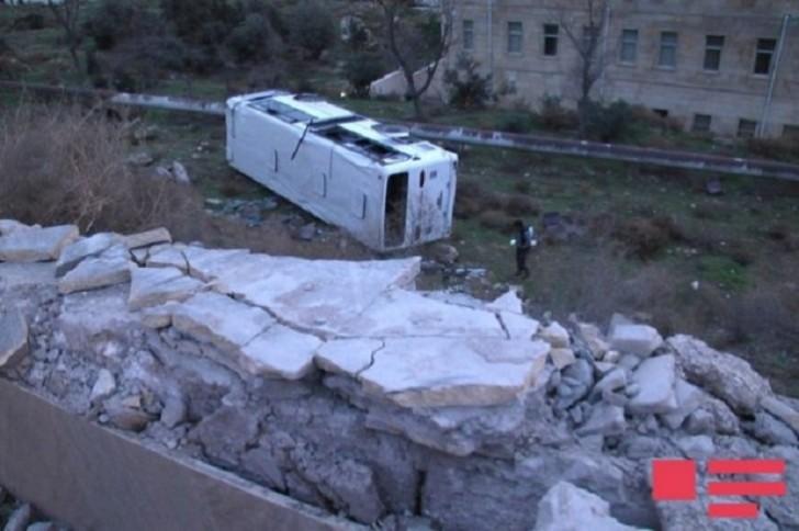 Bakıda 20 nəfərin xəsarət aldığı qəza törədən avtobus sürücüsü tutuldu