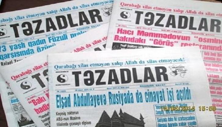 «Təzadlar» fəaliyyətini dayandırır-