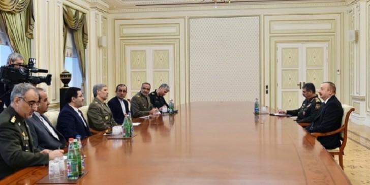 İlham Əliyev İranın müdafiə nazirini qəbul edib