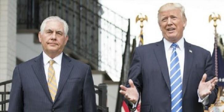 Tramp Tillersonu qovdu