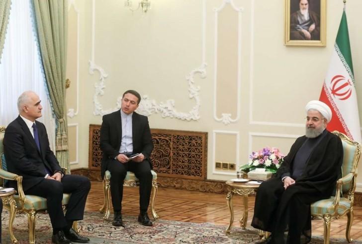 İran Prezidenti Azərbaycan nümayəndə heyətini qəbul edib