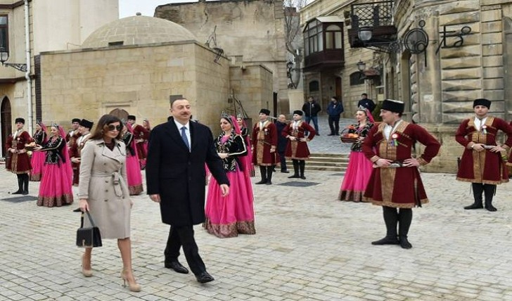İlham Əliyev və xanımı Novruz bayramı şənliyində