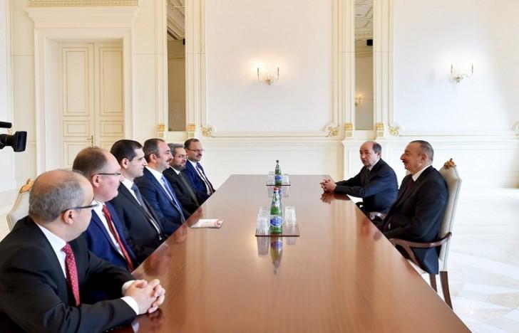 Prezident Türkiyənin ədliyyə nazirini qəbul edib