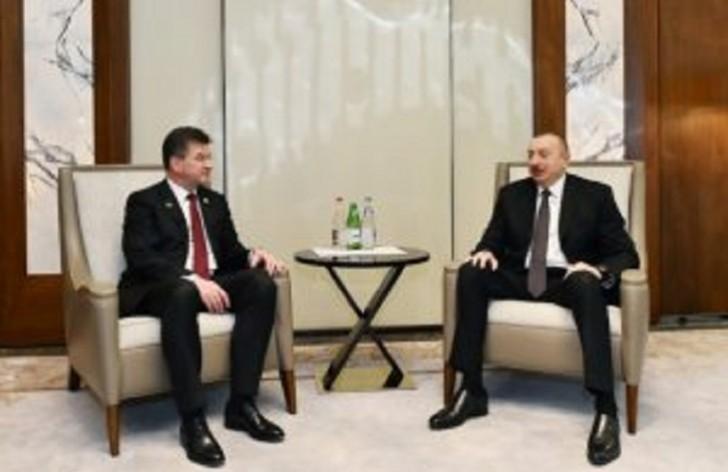 İlham Əliyev BMT Baş Assambleyasının sədri ilə görüşüb