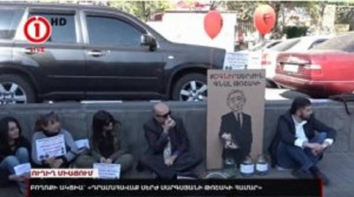 Ermənistanda Sarkisyana qarşı etiraz aksiyası