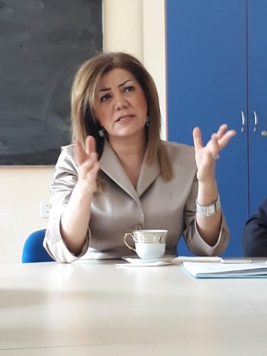 Əməkdar jurnalist Mətanət Ağamirli BSU-nun jurnalist tələbələri ilə görüşüb