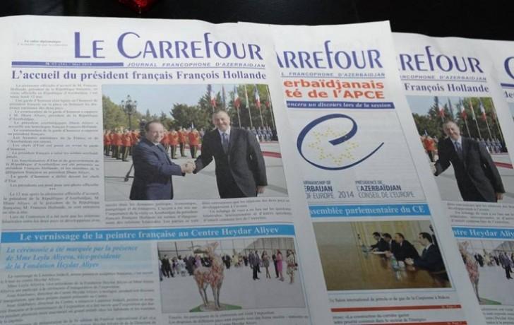 """Fransızdilli """"Le Carrefour"""" qəzetinin 11 yaşı oldu"""