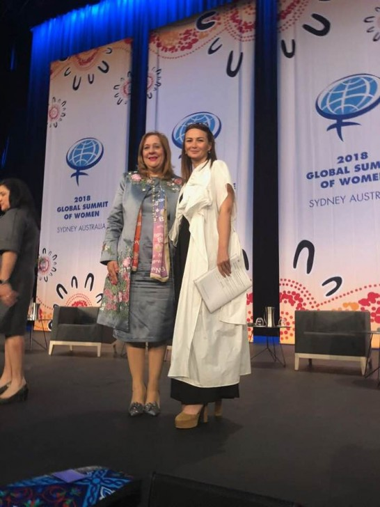 BBPQF-nin prezidenti Amany Asfour Azərbaycan qadınları ilə görüşüb-