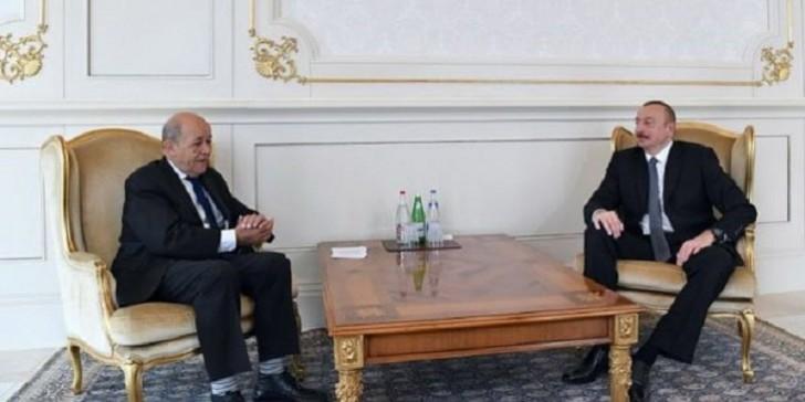İlham Əliyev Fransanın Avropa və xarici işlər nazirini qəbul edib