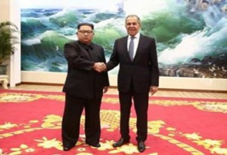Sergey Lavrov Kim Çen Inla görüşüb