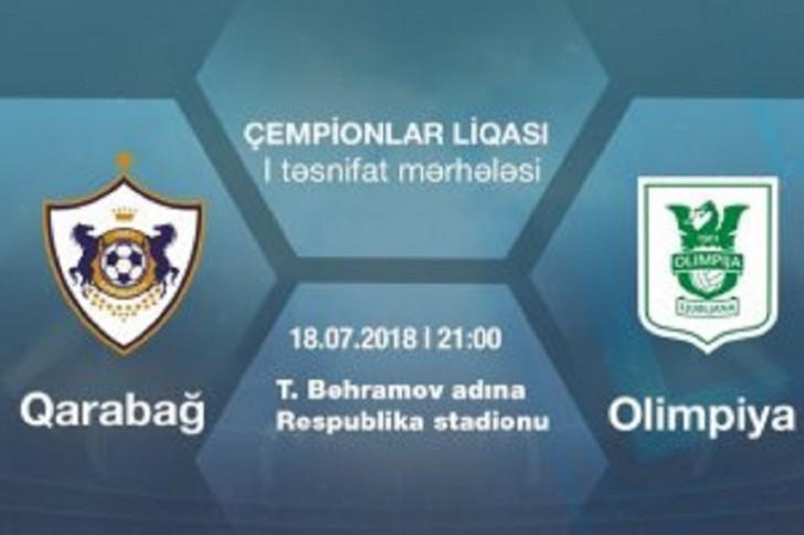 """""""Qarabağ"""" – """"Olimpiya"""" matçı Tofiq Bəhramov adına stadionda keçiriləcək"""