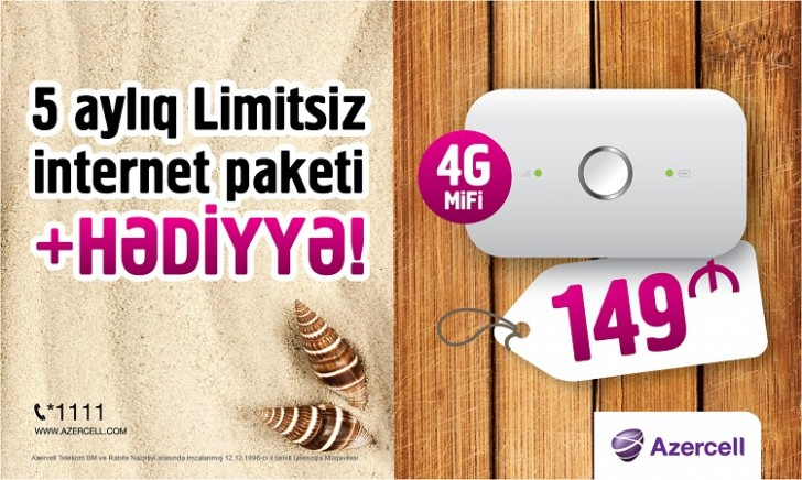 Azercell-dən Yeni 4G MiFi kampaniyasi
