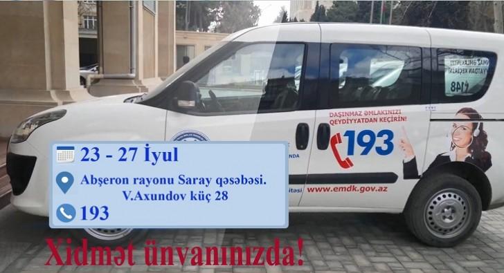 """""""Əmlakını qeydiyyata al və mülkiyyətinə sahib ol"""" kampaniyası Sarayda"""
