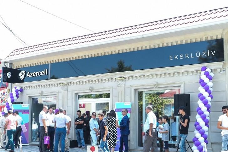 Azercell Bərdədə yeni Eksklüziv mağazasını abunəçilərin ixtiyarına verib-