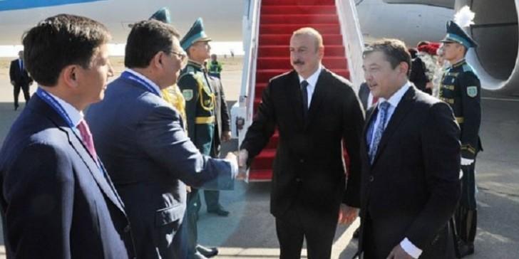 İlham Əliyev Qazaxıstana getdi