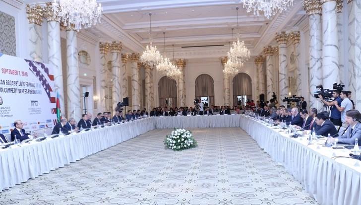 """""""Azərbaycan Rəqabətlilik Forumu 2018"""" keçirilib"""