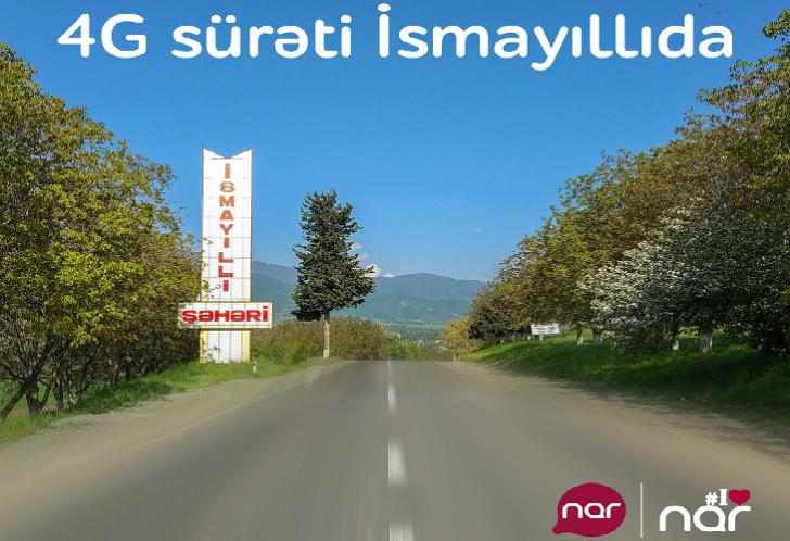 """""""Nar"""" İsmayıllıda 4G şəbəkəsini qurdu"""