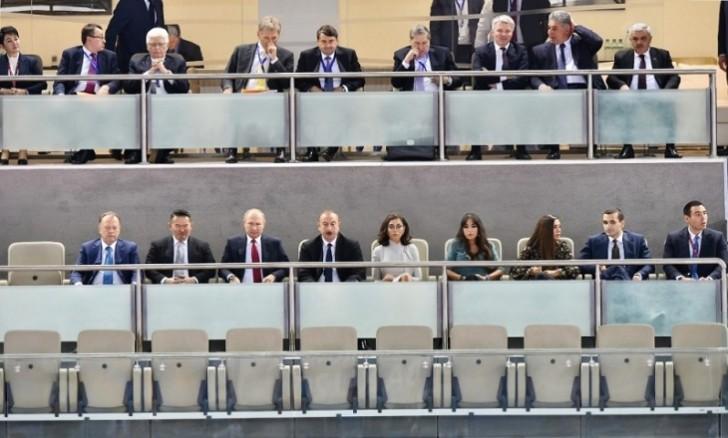 Əliyevlə Putin Bakıda cüdo yarışlarını İzləyir-