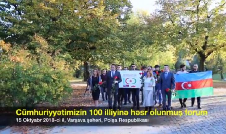 Polşada Azərbaycan Xalq Cümhuriyyətinin 100 illiyinə həsr olunmuş forum keçirilib-