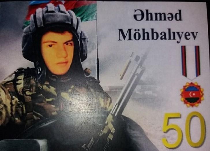 """""""Azərbaycan Bayrağı"""" ordenli şəhid tankçının 50 illiyi qeyd edilib-"""