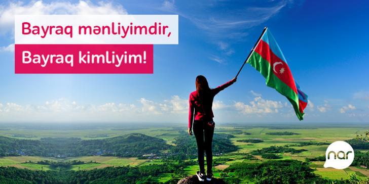 """""""Nar""""dan Bayraq Günü münasibəti ilə abunəçilərinə hədiyyə"""