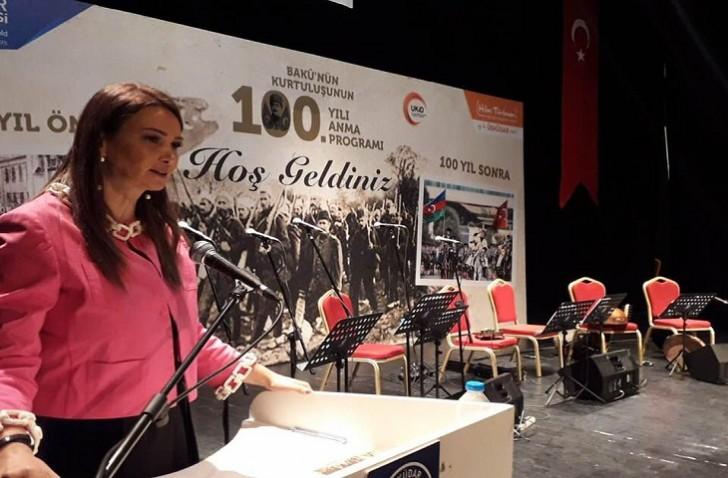 Millət vəkili Türkiyədə AXC-nin 100 illiyi ilə bağlı konfransda çıxış edib