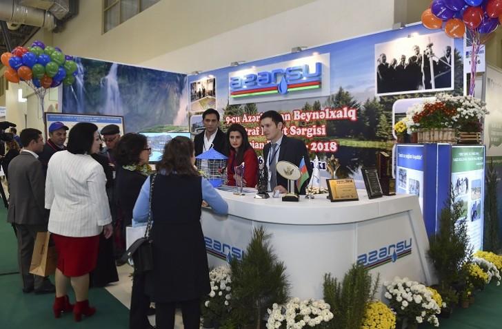 """""""Azərsu"""" """"Caspian Ecology""""də xüsusi pavilyonla təmsil olunub-"""