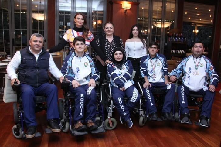 Qənirə Paşayeva Boccia idman növü üzrə paralimpiya komandamızın üzvləri ilə görüşüb