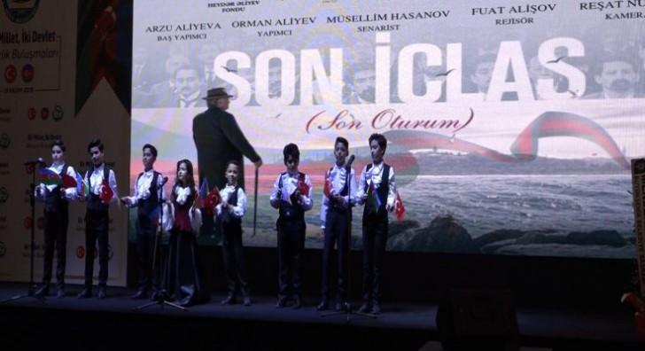 """""""Son iclas"""" bədii-sənədli filmi Antalyada təqdim olundu-"""