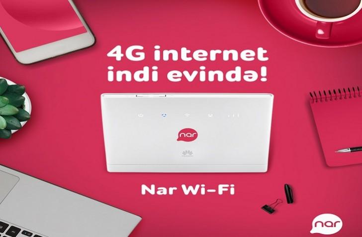 """""""Nar Wi-Fi"""" ilə 4G artıq evinizdə"""