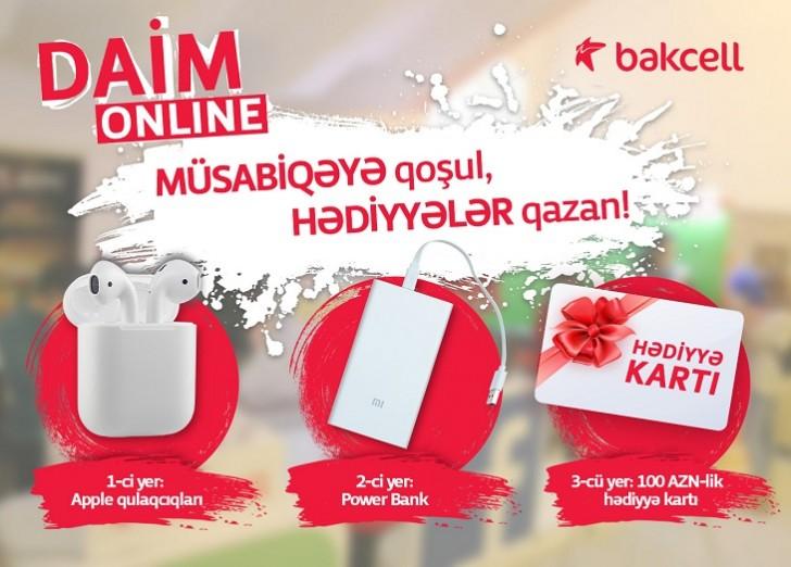 Bakcell sosial şəbəkə istifadəçiləri üçün növbəti müsabiqə elan edib