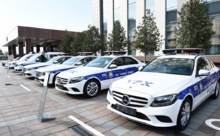 """Yol polisinə yeni verilmiş """"Mercedes"""