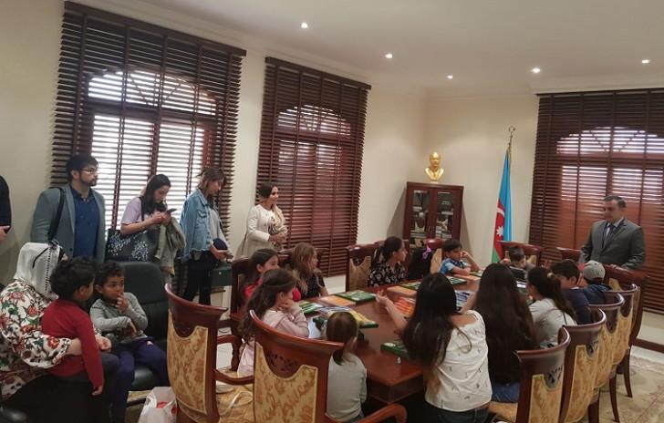 """Qətərdə Azərbaycan dilinin tədrisi üzrə """"Bazar günü"""" məktəbinin açılışı keçirilib-"""